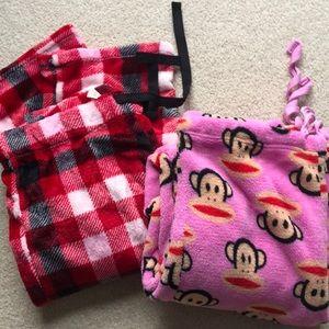 Fleece pajama pant set.
